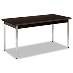 (HON Utility Table, Rectangular, 60W X 30D X 29H, Mocha/Black)