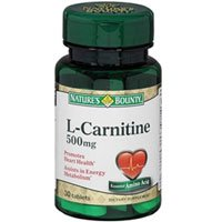 Nature's Bounty L-Carnitine 500 mg Tablets 30 Tablets (Pack of 4) by Us Nutrition Inc