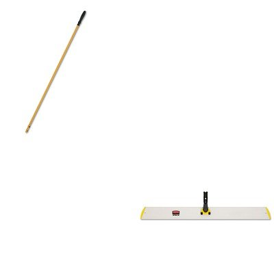 KITRCPQ580YELRCPQ750YW - Value Kit - Rubbermaid-58quot; Quick Connect Handle Yellow (RCPQ750YW) and 36quot; Quick-Connect Hall Dusting Frame, Yellow (RCPQ580YEL) by Unknown (Image #1)