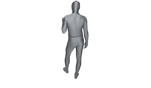 Morphsuit - Traje zentai de lycra (talla XL), color plateado ...