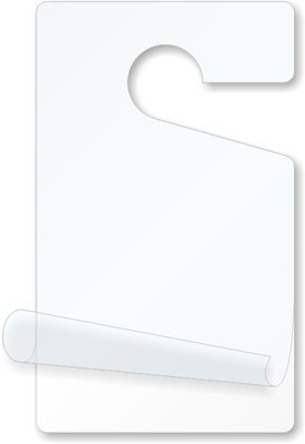 Parking Permit Hang Tags, Self-Laminating Plastic Parking Permits White, Hand Write Parking Permits and Instantly Laminate Them, 5