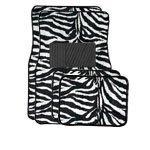 zebra car accessories interior - A Set of 4 Universal Fit Animal Print Carpet Floor Mats for Cars / Truck - Zebra White Tiger