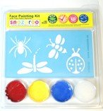 Snazaroo Bug Insect Ladybug Dragonfly Spider Bee Face Paint Kit with -