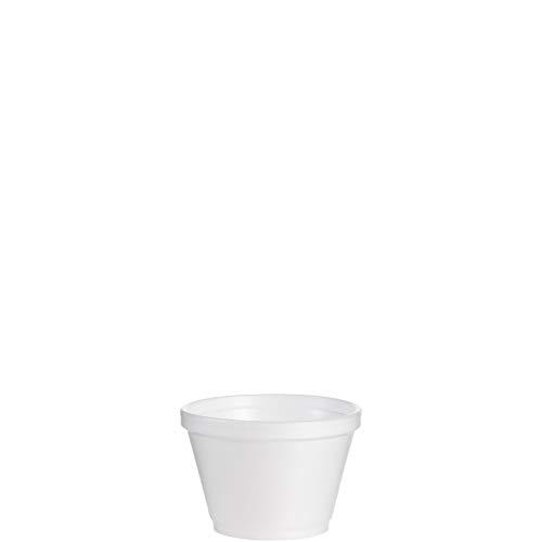Dart 4 Ounce Foam - Dart 6SJ12 Foam Containers, 6oz, White 50 per Bag (Case of 20)