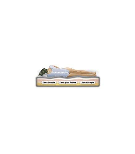 france-matelas SURMATELAS m/émoire de Forme 140x190 DEHOUSSABLE 9 Zones de Confort 65kg//m3