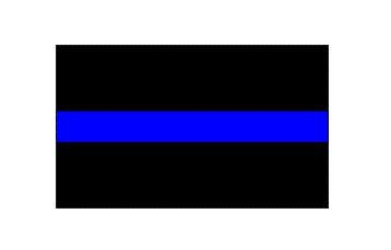 Thin Blue Line Reflective Decal 4 X 6 ()