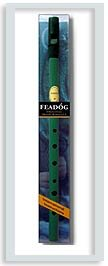 Feadóg Brass Traditional Irish Tin Whistle in the Key of D, Green Colour  ()