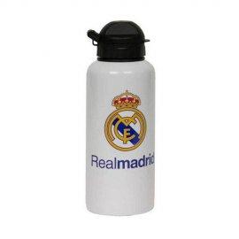 Real Madrid botella de aluminio 400ml, Decorada con escudo y letra del himno oficial.
