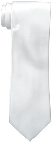 Woven Poly Mens Tie (Van Heusen Men's Poly Woven Solid Tie, White, One Size)