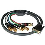 C2G/Cables to Go 40342 SonicWave BNC Component Video to HD15 VGA Breakout Cable (50 Feet, Gray)