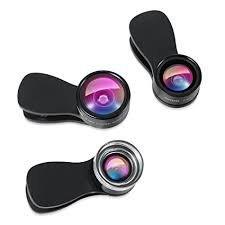 6S Negro 6S Plus Lente Universal 4 en 1 para c/ámara de tel/éfono m/óvil Lente de Ojo de pez NTC Lente Macro 2 en 1 y Lente Gran Angular para iPhone 6