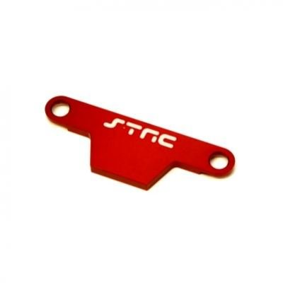 ST Racing Concepts ST3727AR Cnc Machined Aluminum HD Battery Hold Down Plate (Rustler/Bandit) Upgrade Parts, Red - Battery Hold Down Plate