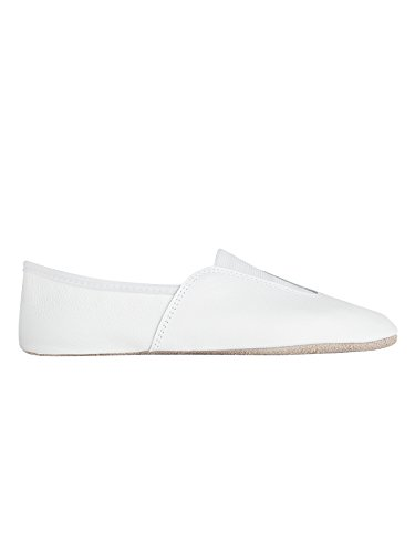 Rumpf 1038 Gymnastikschuhe Leder Tanz Jazz Dance Aerobic Pilates Schuhe, ganze Chomledersohle, schwarz Weiß