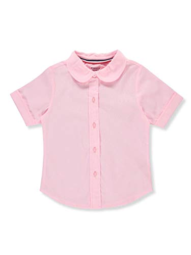 French Toast Little Girls' S/S Peter Pan Fitted Shirt - Pink, 6X