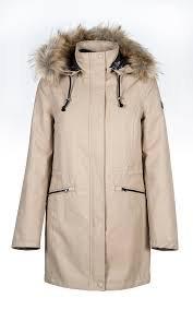 M Equiline Ladies Parka Betsy Black coat winter jacket faux fur collar hood