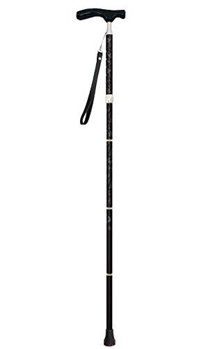 シナノ グランドカイノス 折たたみ杖 アート&クラフツ ブラック B016I7REMA アート&クラフツ アート&クラフツ
