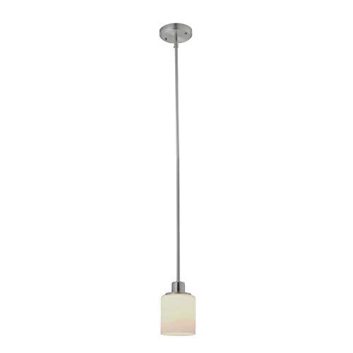(Design House 587352 Aubrey 1-Light LED Mini Pendant, Satin Nickel)