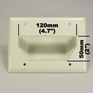 White InstallerParts 3-Gang Recessed Low Voltage Cable Plate