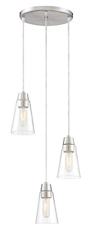 Designers Fountain Echo 87830-3-SP Pendant Light Satin Platinum 3 Light Pendant