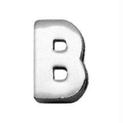 Mirage Pet Products Chrome Plated Charm for Pets, 3/8-Inch, Monogrammed B