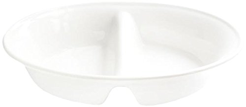American Atelier Oval 2 Section Server, White by American Atelier