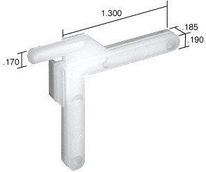 CRL Swivel Key - 1.30'' Leg; .185'' Width - Bulk 100 Pack by C.R. Laurence