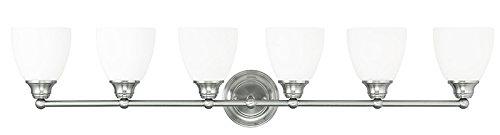 Livex Lighting 13666-91 Somerville 6-Light Bath Light, Brushed Nickel by Livex Lighting B00LEVMTDU  つや消しニッケル