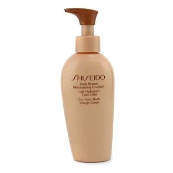 (Shiseido Daily Bronze Moisturizing Emulsion Face and Body Lotion for Unisex, 5 Ounce by Shiseido)