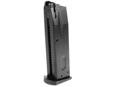 WE Green Gas Pistol Magazine, 25 Rds, Fits M-92, HFC M190