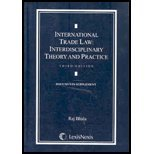 International Trade Law: Interdisciplinary Theory and Practice Documents Supplement