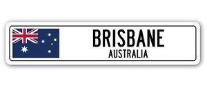 (3 Pack: BRISBANE, AUSTRALIA Street Sign Sticker 3
