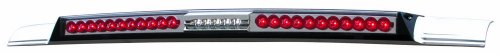 Led Crystal Clear 3rd Brake - IPCW LED3-3040C-A Crystal Clear Mega LED Third Brake Light with Cargo Light and Red Cap - 1 Piece