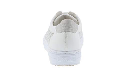 Rieker Weiss sneaker Stringata L59d6 weiss silber scarpa Basso 81 Donna weiss silver traspirante silber x0aw0tqrX