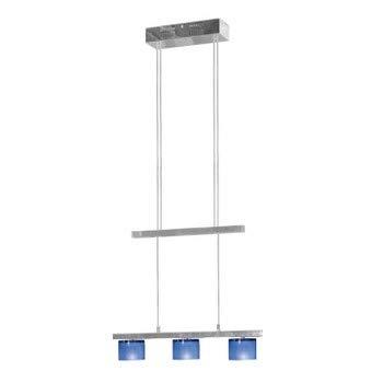 Jesco Lighting CBP305-3CB 3-Light Crystal Counter Balance Pendant, Cobalt Blue (3 Light 3cb)