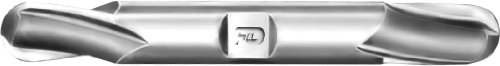 F&D Tool Company 17771-T1052 Two Flute Ball Nose End Mill, Double End, High Speed Steel, 1