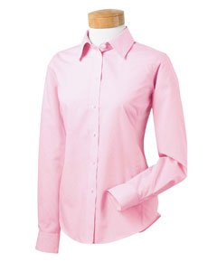 Chestnut Hill Ladies Executive Performance Broadcloth Shirt - Fresh Pink Stripe CH600W - Broadcloth Performance Executive