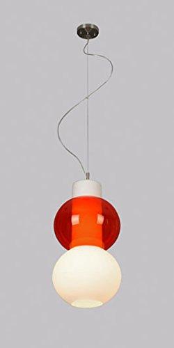 LUX de lámpara LED colgante de techo, Zar Cristal Pantalla ...