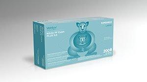 Ventyv Nitrile Powder Free Exam Glove Plus 5.0 (Kangaroo), Blue, Large 10336103 by Ventyv (Image #1)