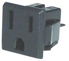 QUALTEK ELECTRONICS 738W-X2/03 POWER ENTRY CONN, RECEPTACLE, NEMA 5-15R, 15A (1 piece) ()
