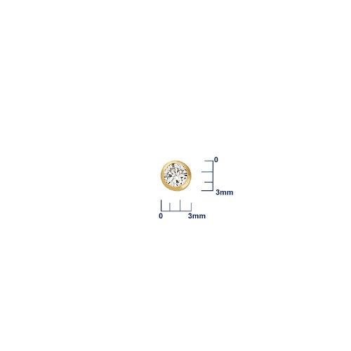 Miore - Boucles d'Oreilles Femme - Or Jaune 585/1000 (14 carats) 0.67 gr - Diamant 0.15 cts