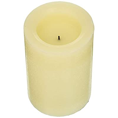 Inglow Flameless Candle Round Vanilla-Scented Pillar with Timer, 4 by 6-inch tall, Cream: Home Improvement