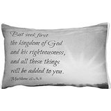 ArtColor Design Matthew 6 33 Seek First Throw Pillowcase For Sofas