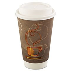 Insulair RETARO-24-16-C EcoSmart Aroma Paper Cup with Lid (12 Packs of 24 cups, 24 lids)