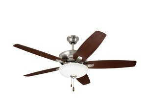 Hugger Transitional Ceiling Fan - Emerson Ceiling Fans CF717BS Ashland, 52-Inch Low Profile Hugger Ceiling Fan With Light, Brushed Steel Finish