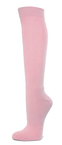COUVER Knee High Sports Athletic Baseball Softball Socks, LIGHT PINK, Medium]()
