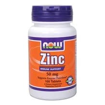 Now Foods Zinc Gluconate, 100 Tabs 50 mg (Pack of 2)