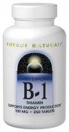 Vitamin B-1 100mg Source Naturals, Inc. 100 Tabs