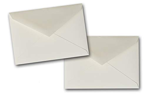 Premium Bulk DIY A-6 Baronial Flap Envelopes - 250 Pack - Great for Mailings, Invitations, Greeting Cards, Showers, Events, Weddings, Etc. (Natural)