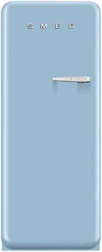 Smeg FAB28UPBL1 50s Retro Style Series 24 Inch Pastel Blue Freestanding Top Freezer Refrigerator (Left Hinge)