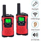 Acehome Walkie Talkies for Kids, Novelty Gifts as Festival Thanksgiving Day Halloween Christmas for Girls Boys, 2pcs 3Miles Handheld Walky Talky for Home Park Neighborhood ()